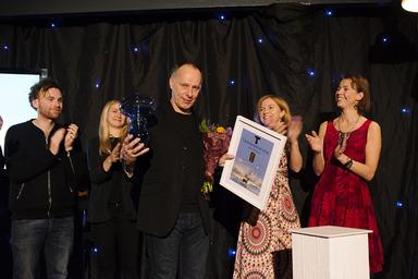 Johan Ehrenberg får Utstickarpriset 2014. Bild: Polarbröd