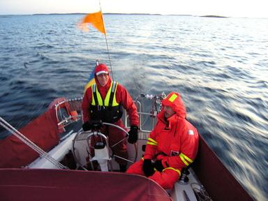 24-timmars ombord på Sjöugglan. Foto: Peter Holstad.