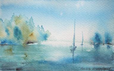 Akvarell av Cecilia Widenflycht