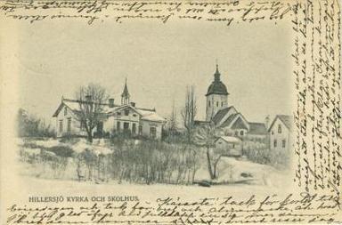 Hillersjö skola och kyrka, Färingsö.