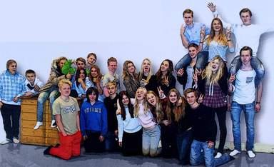 Musikalen Grease. Med elever från nian på Träkvista skola.