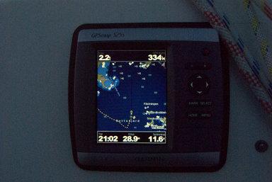 GPS-plotter under användning. Foto: Stefan Pettersson CCBYSA