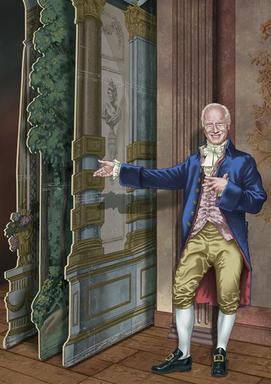 Loa på Drottningholm. Illustratör Maurice Mechan