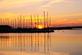 Öregrund i solnedgång