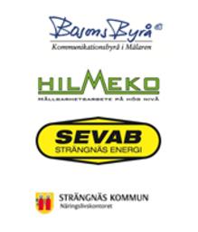 Hilmeko, Bosons Byrå, SEVAB & Näringslivskontorets logotyp