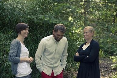 Fr v: Caroline, Ingemar och Johanna Foto: Tobias Jansson