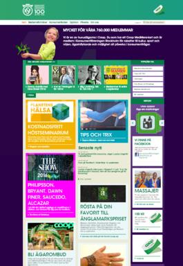 Konsumentföreningen Stockholms hemsida
