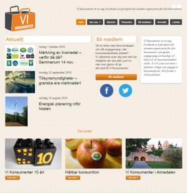 Vi Konsumenters hemsida